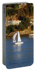 Sailboat In Vancouver Portable Battery Charger by Robert Meanor