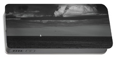 Portable Battery Charger featuring the photograph Sailboat Into A Storm by Raymond Salani III
