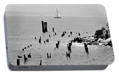Sailboat Off City Island, New York No. 1-1 Portable Battery Charger by Sandy Taylor