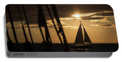 Sailboat On The Horizon Portable Battery Charger