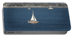 Sailboat On The Pacific In Long Beach Portable Battery Charger