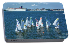 Portable Battery Charger featuring the photograph Sailboat Races by Kathy Baccari