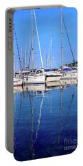 Sailboat Reflections - Rovinj, Croatia  Portable Battery Charger