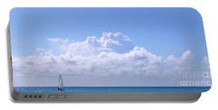 Portable Battery Charger featuring the photograph Sailboat Sea And Sky M5 by Francesca Mackenney