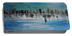 Sailboats And Cityscape Portable Battery Charger