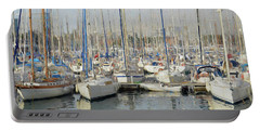 Sailboats At The Dock - Painting Portable Battery Charger
