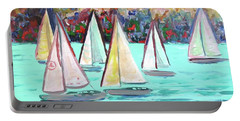 Sailboats In Spain I Portable Battery Charger