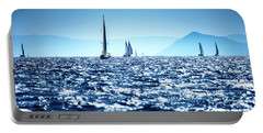 Sailboats In The Sea Portable Battery Charger