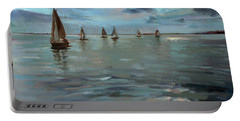 Sailboats On The Chesapeake Bay Portable Battery Charger