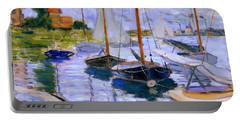 Sailboats On The Seine At Petit Gennevilliers Claude Monet 1874 Portable Battery Charger