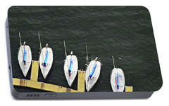 Sailboats Portable Battery Charger by Sandy Taylor