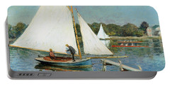 Sailing At Argenteuil Portable Battery Charger