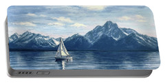 Sailing At The Grand Tetons Portable Battery Charger