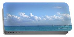 Portable Battery Charger featuring the photograph Sailing Blue Seas by Francesca Mackenney