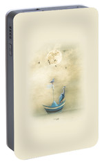 Portable Battery Charger featuring the painting Sailing By The Moon by Chris Armytage