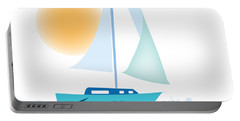 Portable Battery Charger featuring the digital art Sailing Day by Gina Harrison