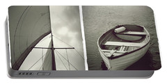 Sailing Diptych Portable Battery Charger