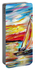 Sailing In The Indian Ocean Summer  Portable Battery Charger