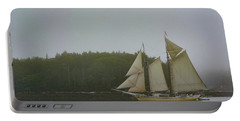 Sailing In The Mist Portable Battery Charger