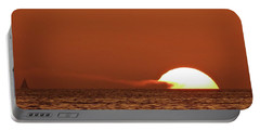Sailing In The Sunset Portable Battery Charger