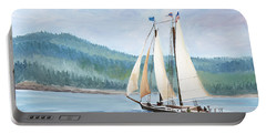 Sailing Into Castine Harbor Portable Battery Charger