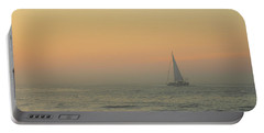 Portable Battery Charger featuring the photograph Sailing Into The Mist by Robert Banach