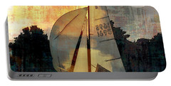 Sailing Into The Sunset Portable Battery Charger by LemonArt Photography