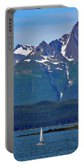 Sailing Lynn Canal Portable Battery Charger by Cathy Mahnke