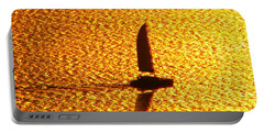 Portable Battery Charger featuring the photograph Sailing On Gold by Ana Maria Edulescu