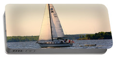 Sailing On Lake Murray Sc Portable Battery Charger