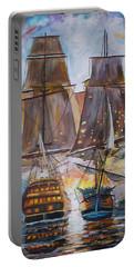 Sailing Ships At War. Portable Battery Charger