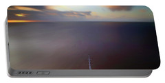 Portable Battery Charger featuring the photograph Sailing The Caribbean - Cruise Ship - Sunrise - Seascape by Jason Politte