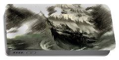 Sailing The Stormy Seas Portable Battery Charger