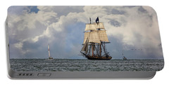 Portable Battery Charger featuring the photograph Sailing To Port by Dale Kincaid