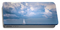 Sailing Under The Clouds Portable Battery Charger