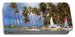 Sails And Palms Portable Battery Charger by Sue Melvin