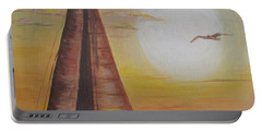 Sails In The Sunset Portable Battery Charger by Debbie Baker