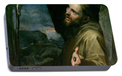 Portable Battery Charger featuring the painting Saint Francis by Federico Barocci