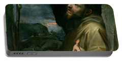 Saint Francis Portable Battery Charger by Federico Barocci
