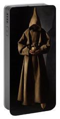 Saint Francis Of Assisi In His Tomb Portable Battery Charger