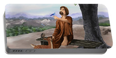 Portable Battery Charger featuring the painting Saint Francis by Susan Kinney
