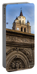 Portable Battery Charger featuring the photograph Saint Hieronymus Facade Of Calahorra Cathedral by RicardMN Photography