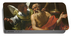 Saint Jerome And The Angel Portable Battery Charger