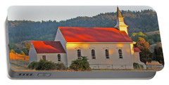 St. Mary's Church At Sunset Portable Battery Charger