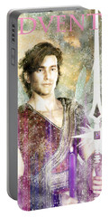 Portable Battery Charger featuring the painting Saint  Michael 9 by Suzanne Silvir