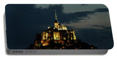 Portable Battery Charger featuring the photograph Saint Michel Mount After The Sunset, France by Yoel Koskas