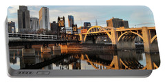 Saint Paul Mississippi River Sunset Portable Battery Charger