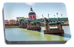 Portable Battery Charger featuring the photograph Saint-pierre Bridge In Toulouse by Elena Elisseeva