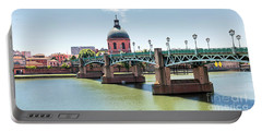 Saint-pierre Bridge In Toulouse Portable Battery Charger