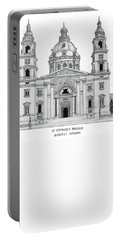Saint Stephens Basilica Portable Battery Charger by Frederic Kohli